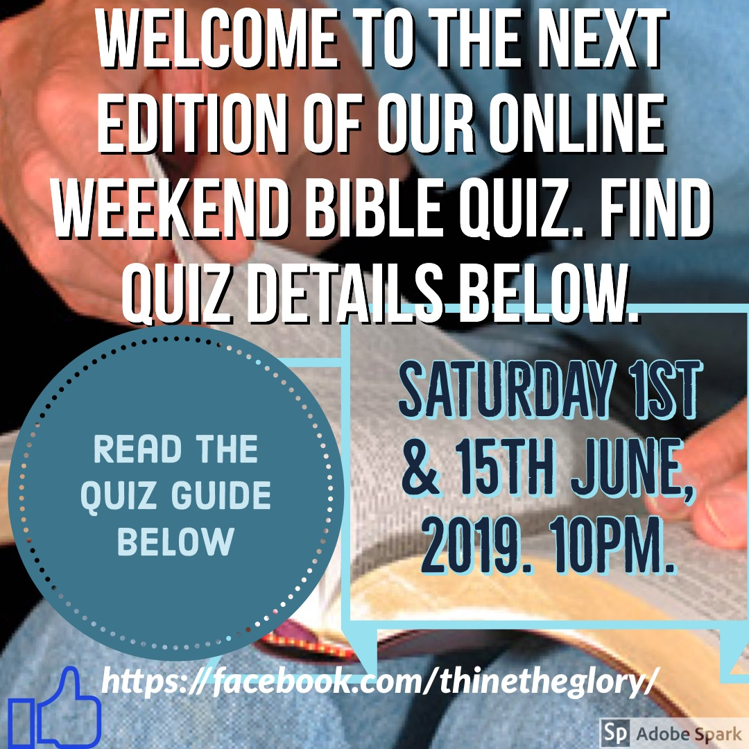 Free Online Weekend Bible Quiz