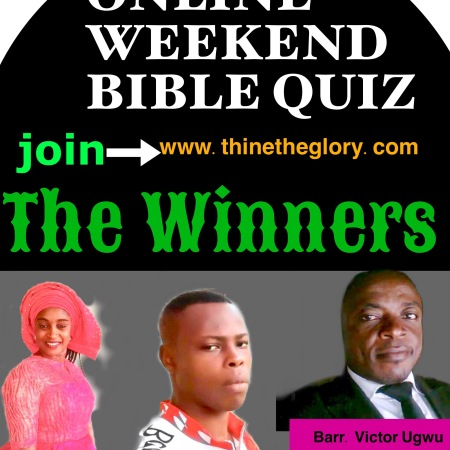 Thine the Glory Quiz winners
