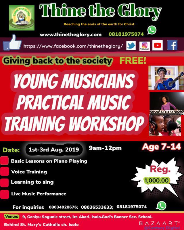 YOUNG MUSICIANS PRACTICAL TRAINING WORKSHOP