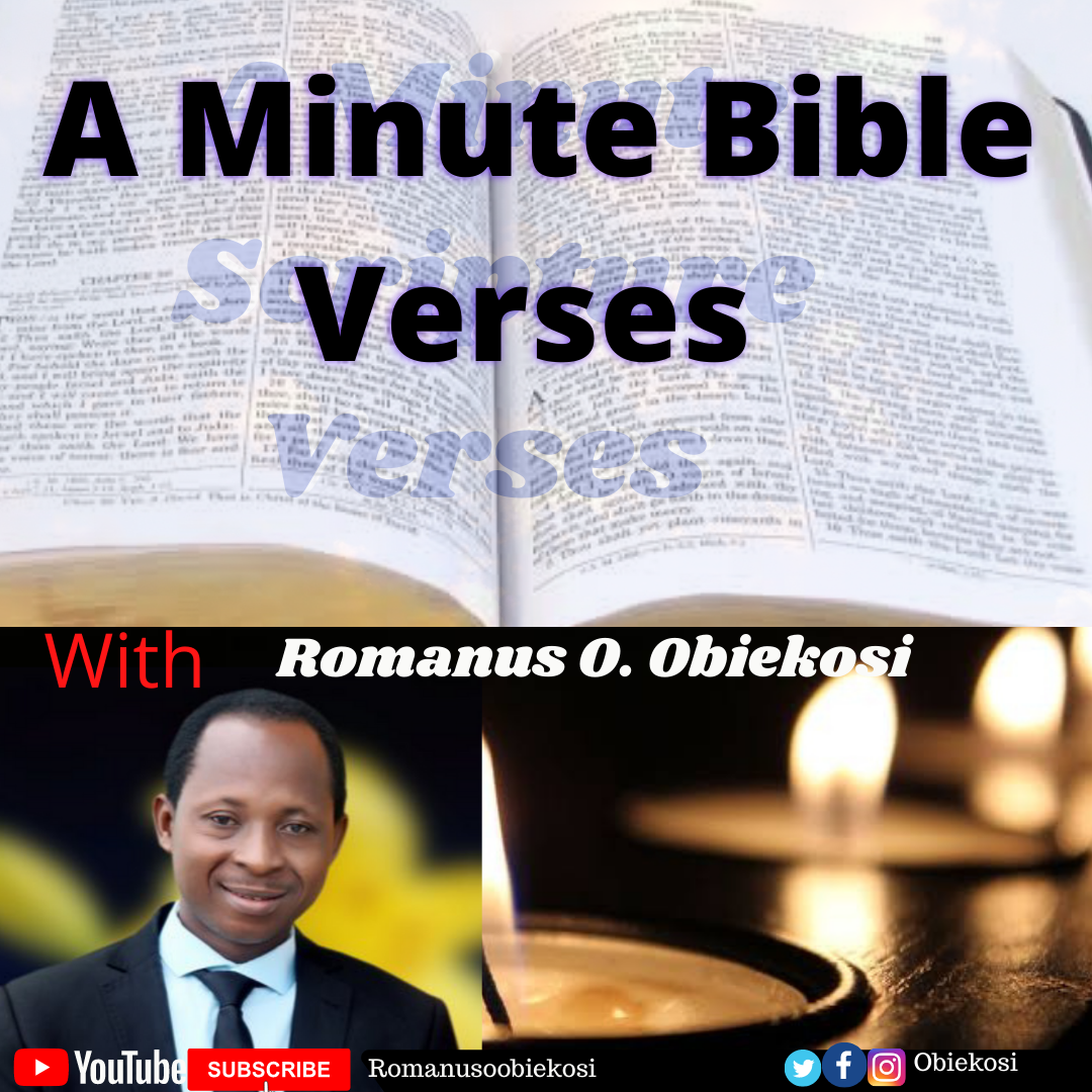 "Listen to today's ""A Minute Bible Verses"" Psalm 121:1-2"
