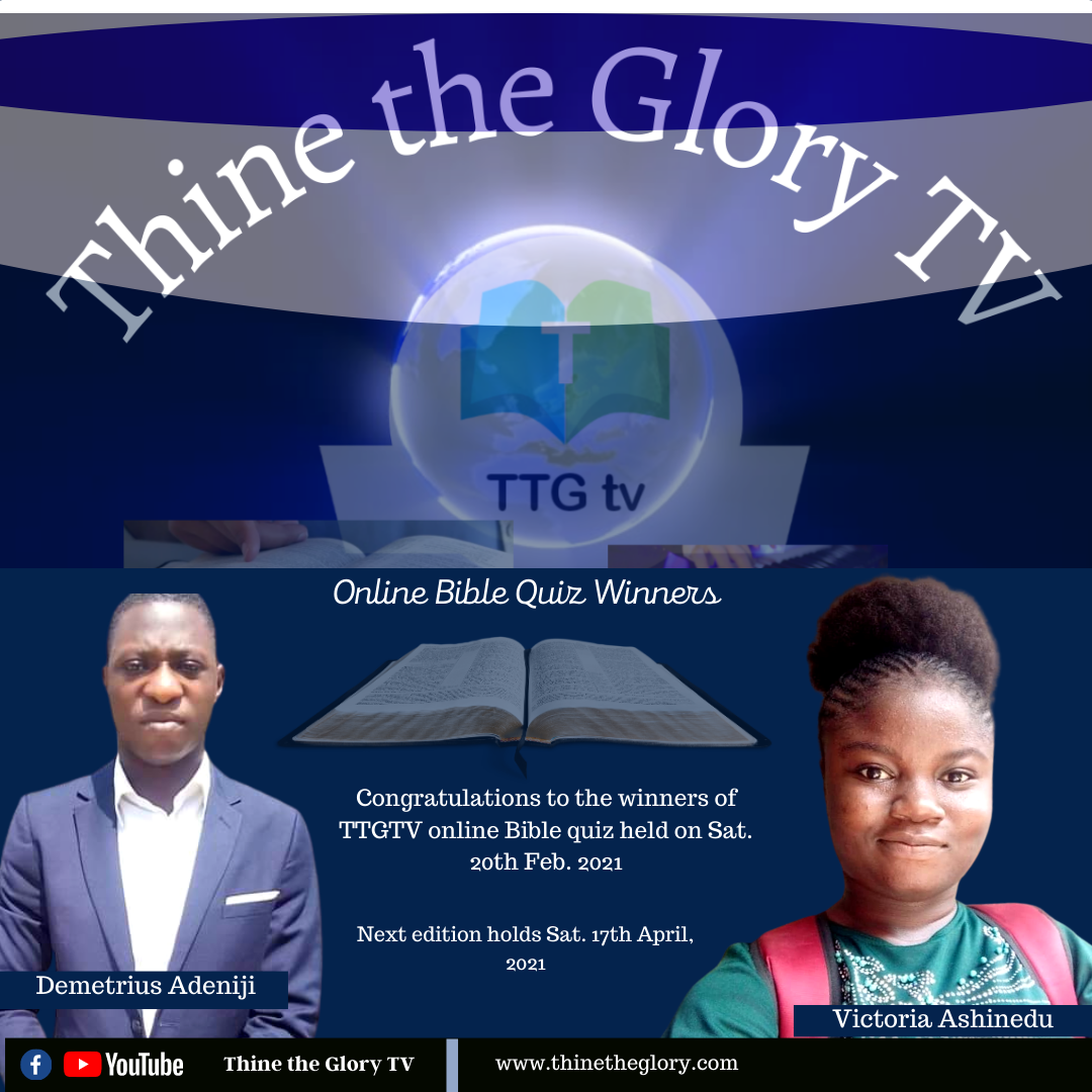 Meet the Winners of February 2021 Edition of TTG Online Bible Quiz
